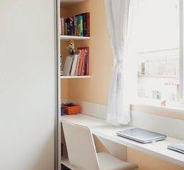 Шкаф купе с рабочим местом вариант рационального использования углового пространства