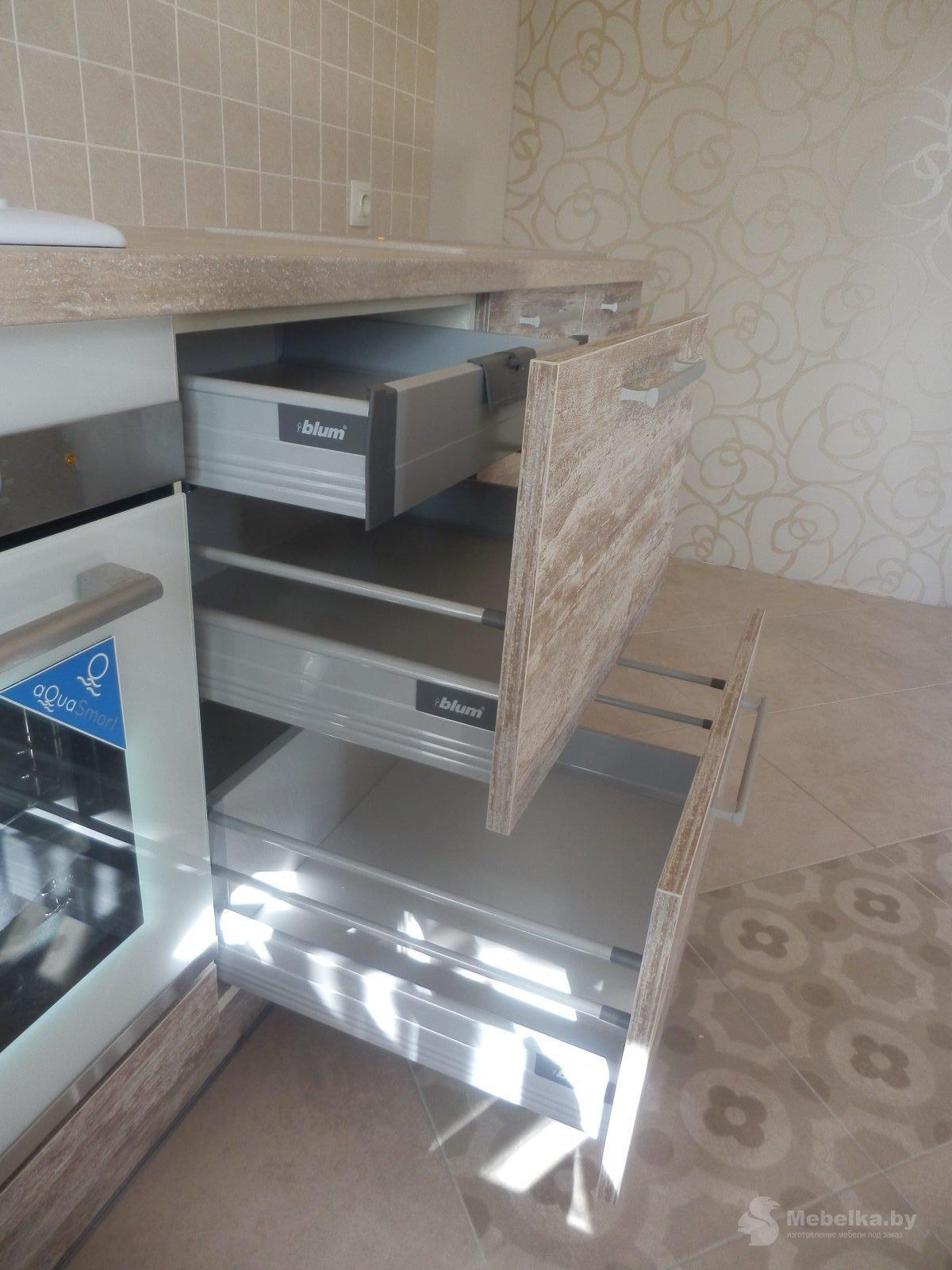 Выдвижные ящики Tandembox с внутренним ящиком с поводком