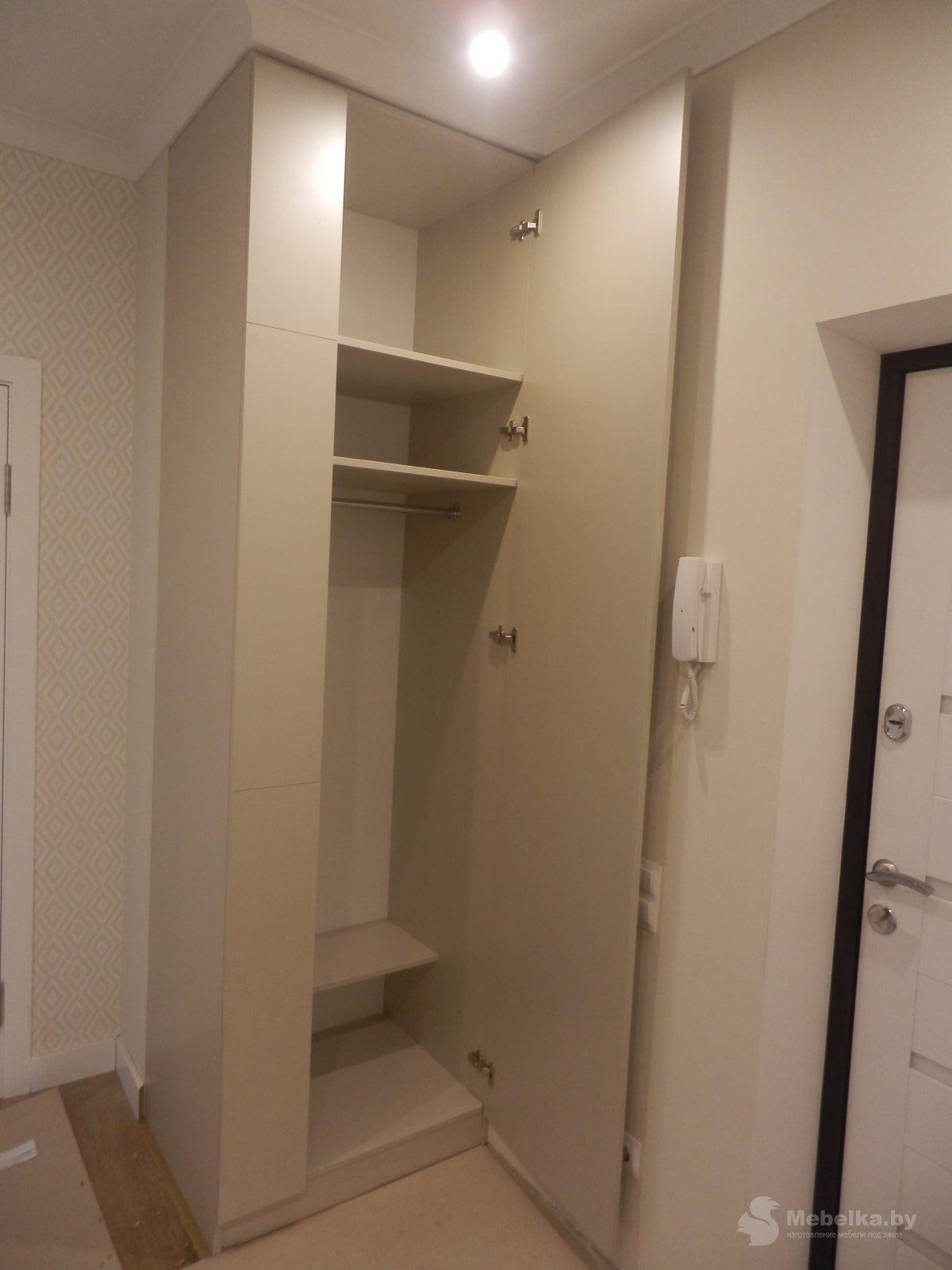Одностворчатый шкаф в прихожей вид 2