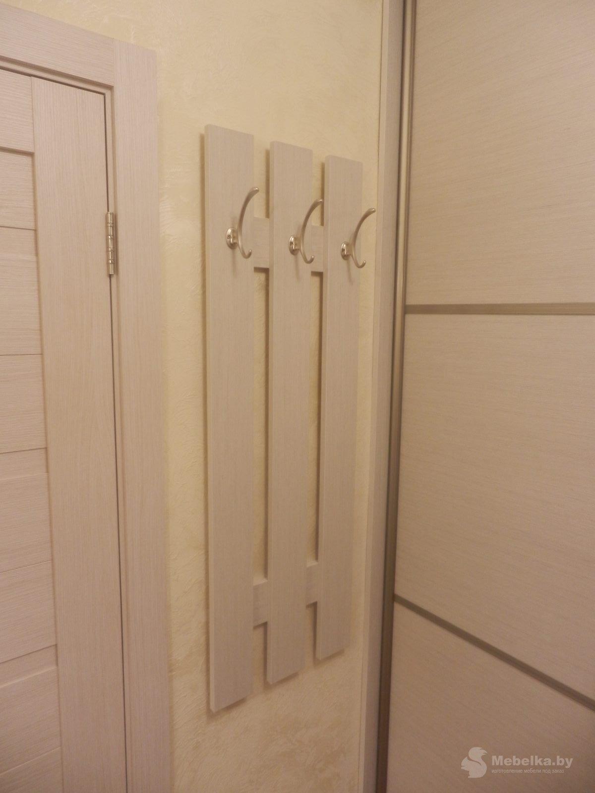 Панель с крючками для верхней одежды возле шкафа-купе