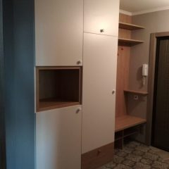 Распашной шкаф в прихожей с открытой нишей. Вид 3