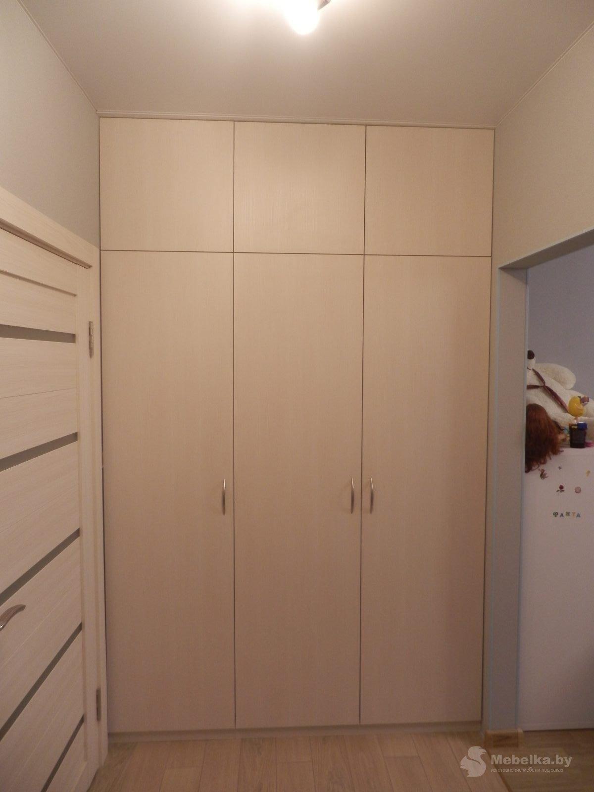 Трехстворчатый шкаф в прихожую вид 1