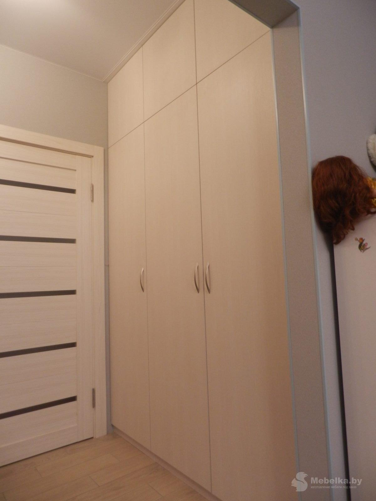 Трехстворчатый шкаф в прихожую вид 2