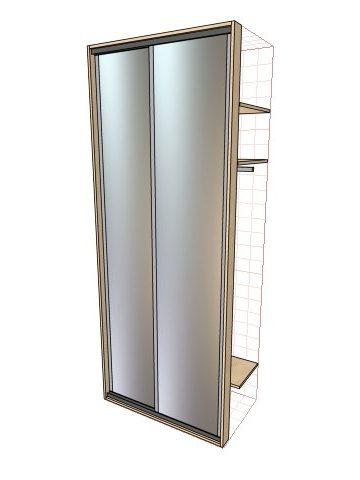 Встроенные шкафы купе двухдверные до 1 метра