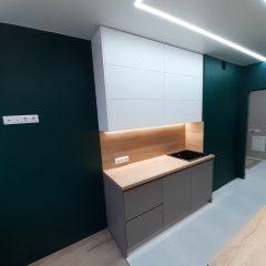 Кухня с зелеными стенами (1)
