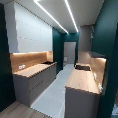 Кухня с зелеными стенами (5)