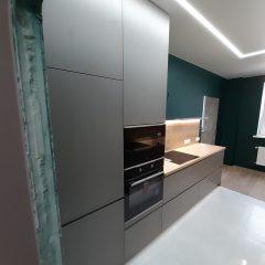 Кухня с зелеными стенами (6)