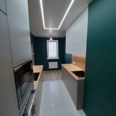 Кухня с зелеными стенами (7)
