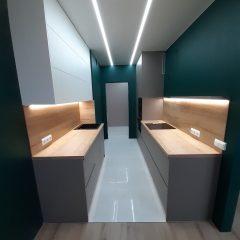 Кухня с зелеными стенами (9)