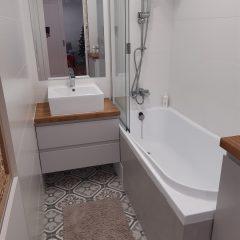 Подвесная столешница для ванной с дубовой столешницей (1)