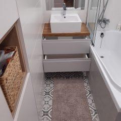 Подвесная столешница для ванной с дубовой столешницей (3)
