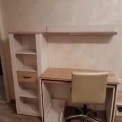 Раздвижной стол со стеллажом в дополнение к фабричному комплекту мебели (1)