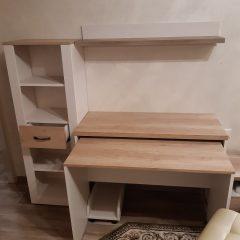 Раздвижной стол со стеллажом в дополнение к фабричному комплекту мебели (3)