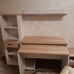 Раздвижной стол со стеллажом в дополнение к фабричному комплекту мебели (4)