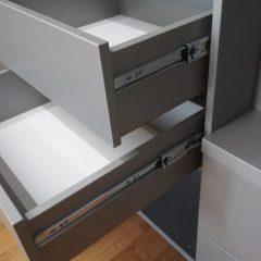 Шкаф-купе со стеллажем. Подвесная система (скрытые направляющие) (11)