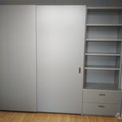 Шкаф-купе со стеллажем. Подвесная система (скрытые направляющие) (8)