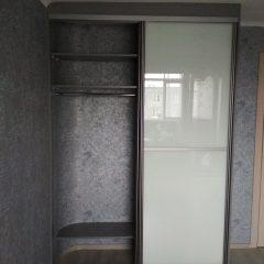 Шкаф-купе цвета графит, наполнение дверей стекло лакобель (3)