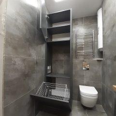 Шкаф с корзиной для белья и нишей под стиральную машину (2)