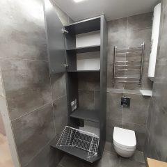 Шкаф с корзиной для белья и нишей под стиральную машину (3)