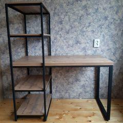Стол со стеллажом на металлическом каркасе (1)