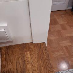 Тумба для стиральной машины с дубовой столешницей (6)