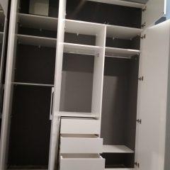 Встроенный белый шкаф (4)