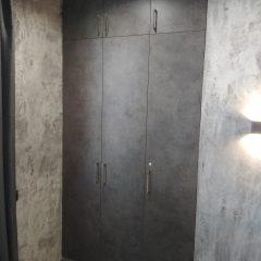 Встроенный шкаф Бетон Чикаго темно-серый (5)